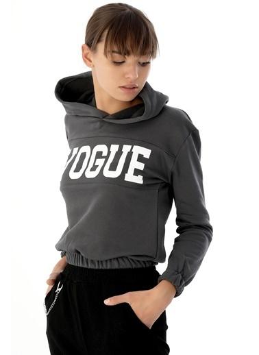 Emjey Vogue Baskılı Sweat Antrasit
